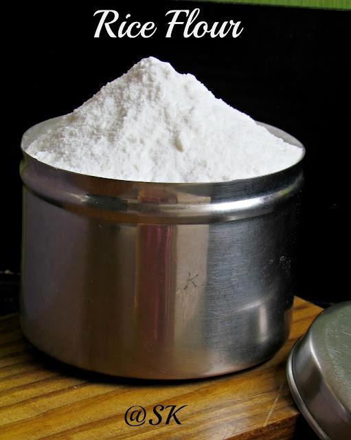 home made rice flour / அரிசி மாவு - step by step