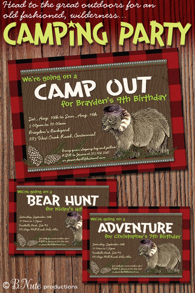 Bnute productions have an outdoor adventure party camping invitations have an outdoor adventure party camping invitations filmwisefo