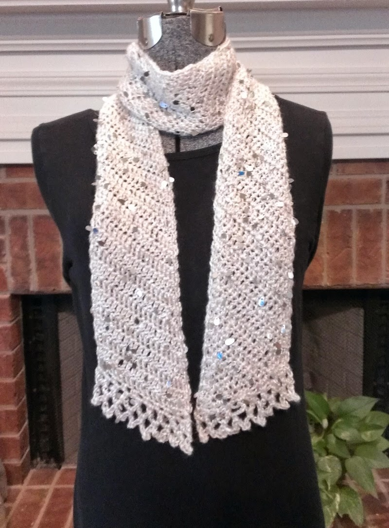 Chie Crochets & Knits too!: Skinny Crochet Icicle Scarf - FREE PATTERN