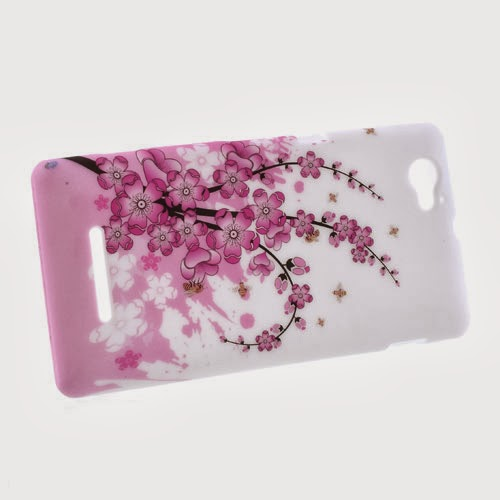 Plum Blossom TPU Jelly Case for Sony Xperia M C1905 C1904 C2004 C2005