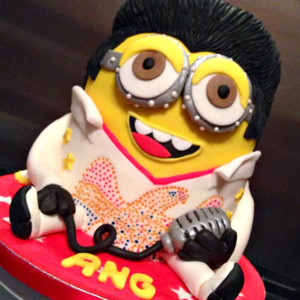 funny elvis minion birthday cake