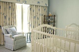 habitación bebé celeste blanco