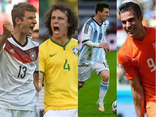 Brasil - Alemania y Argentina - Holanda
