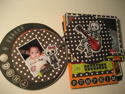 Scrapbook mini álbum Halloween