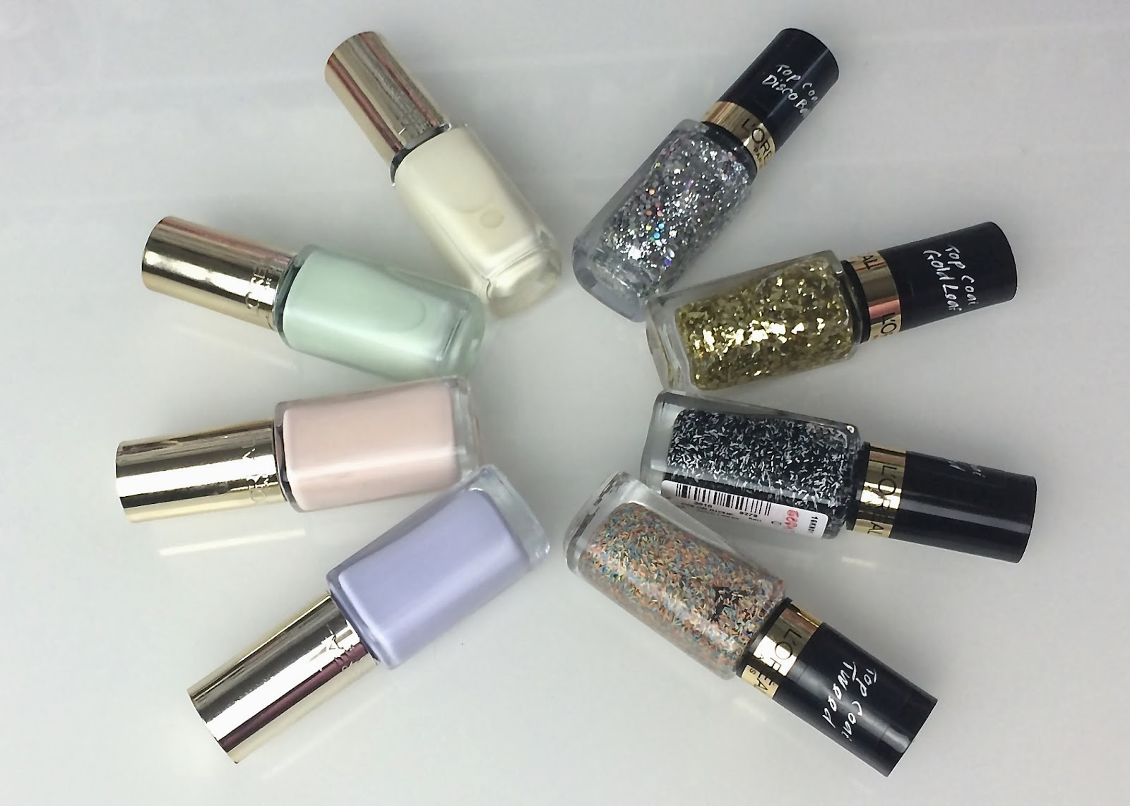 Nails Swatches Of The L Oreal Les Blancs And Top Coat