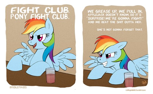 Pony Fight Club por rollingrabbit