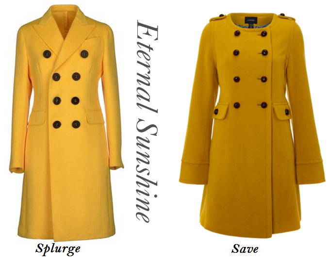 Yellow Coat For Winter, Yellow Wool Coats. Neon Yellow Coats,  Top Fall Fashion Trends
