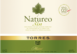 ETIQUETA VINO SIN ALCOHOL NATUREO
