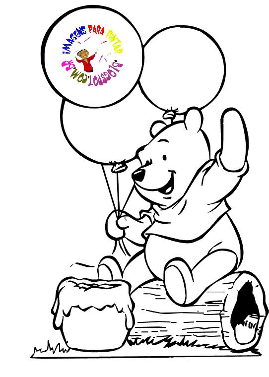 a desenhar Pooh colorir