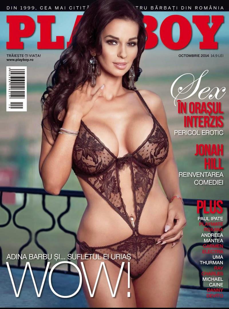 Adina Barbu posa para Playboy da Romênia, edição de outubro