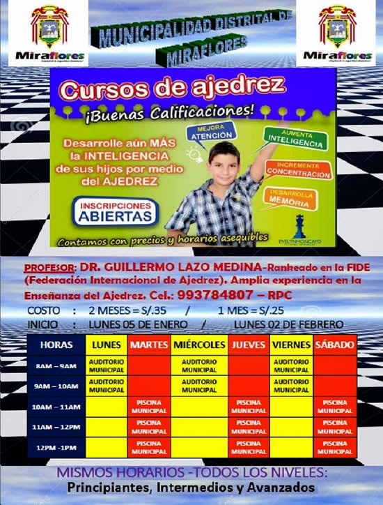Chimuchess cursos de ajedrez de la municipalidad for Municipalidad de avellaneda cursos