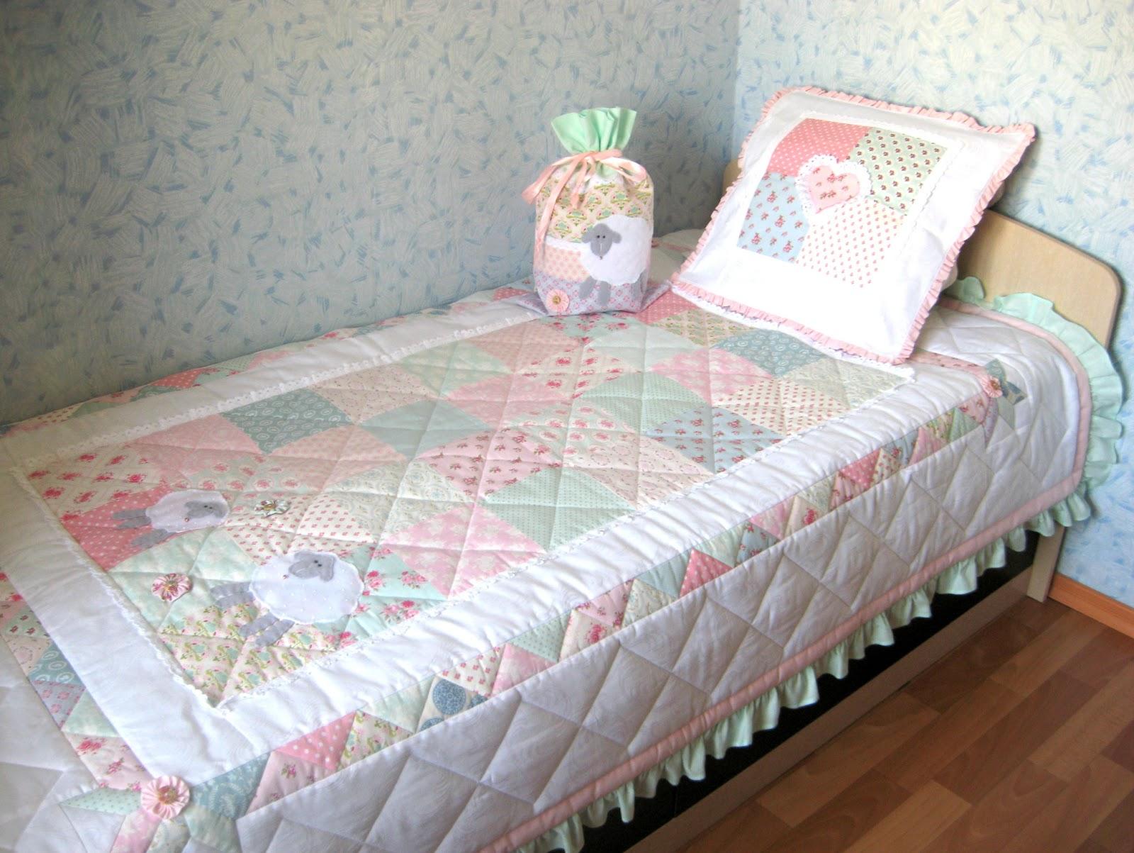 Покрывало на кровать своими руками на детскую кровать