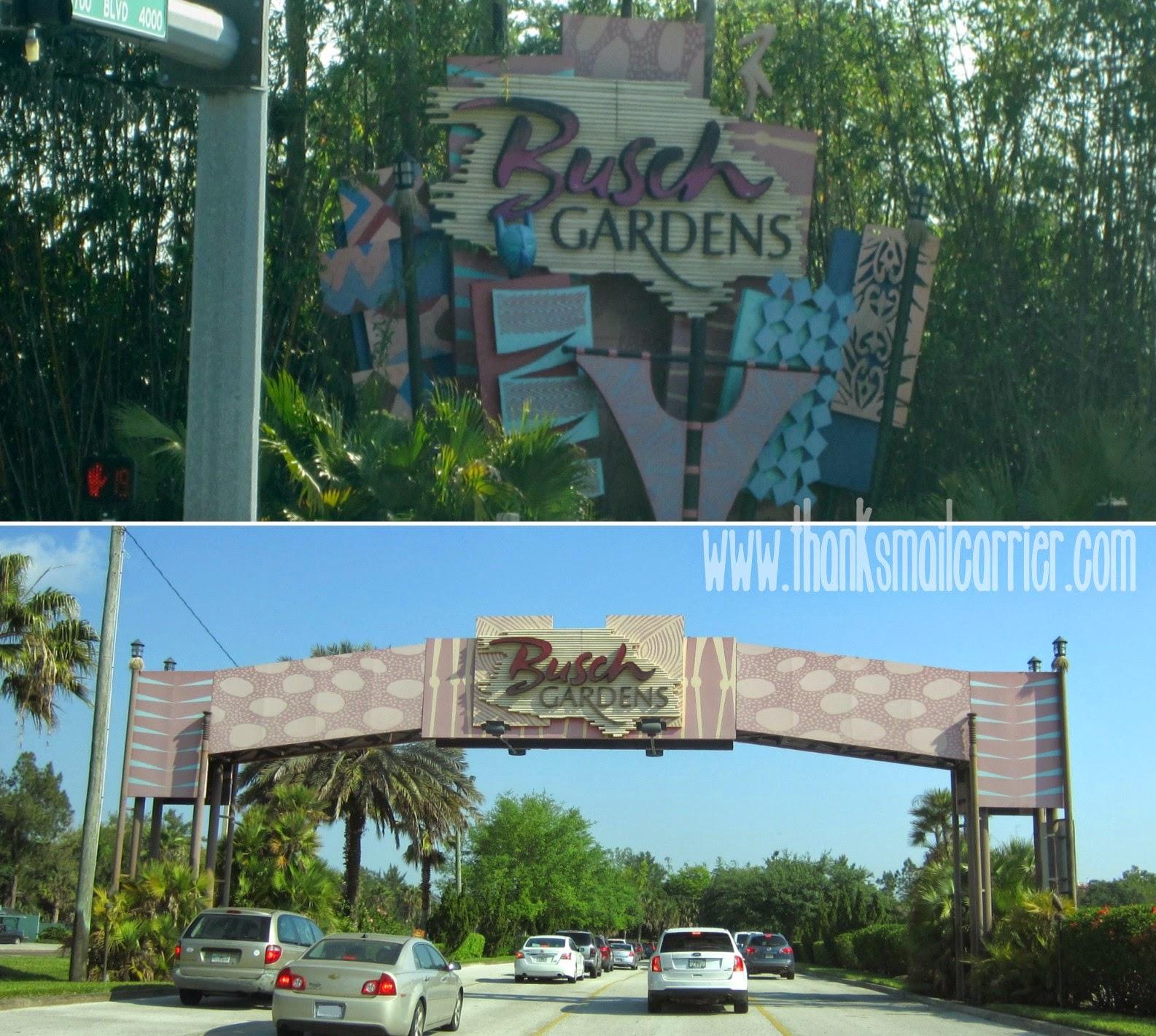 Busch Gardens Tampa entrance