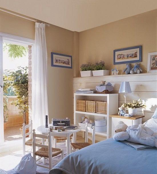 Decoraci n con los colores del arco iris decorar en for Chica azul dormitorio deco