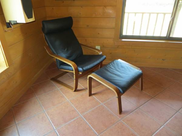 relaxing chair ikea poang modern leather rocking chair foot stool