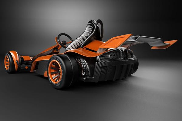 Shopveloz Kart Do Futuro Fabricado Em Fibra De Carbono Com Motor