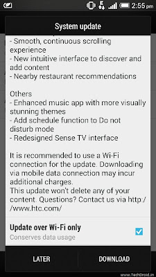 HTC One Sense 6.0 update