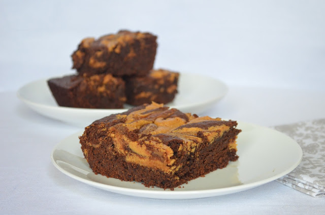 Fudgy Brownies With Peanut Butter