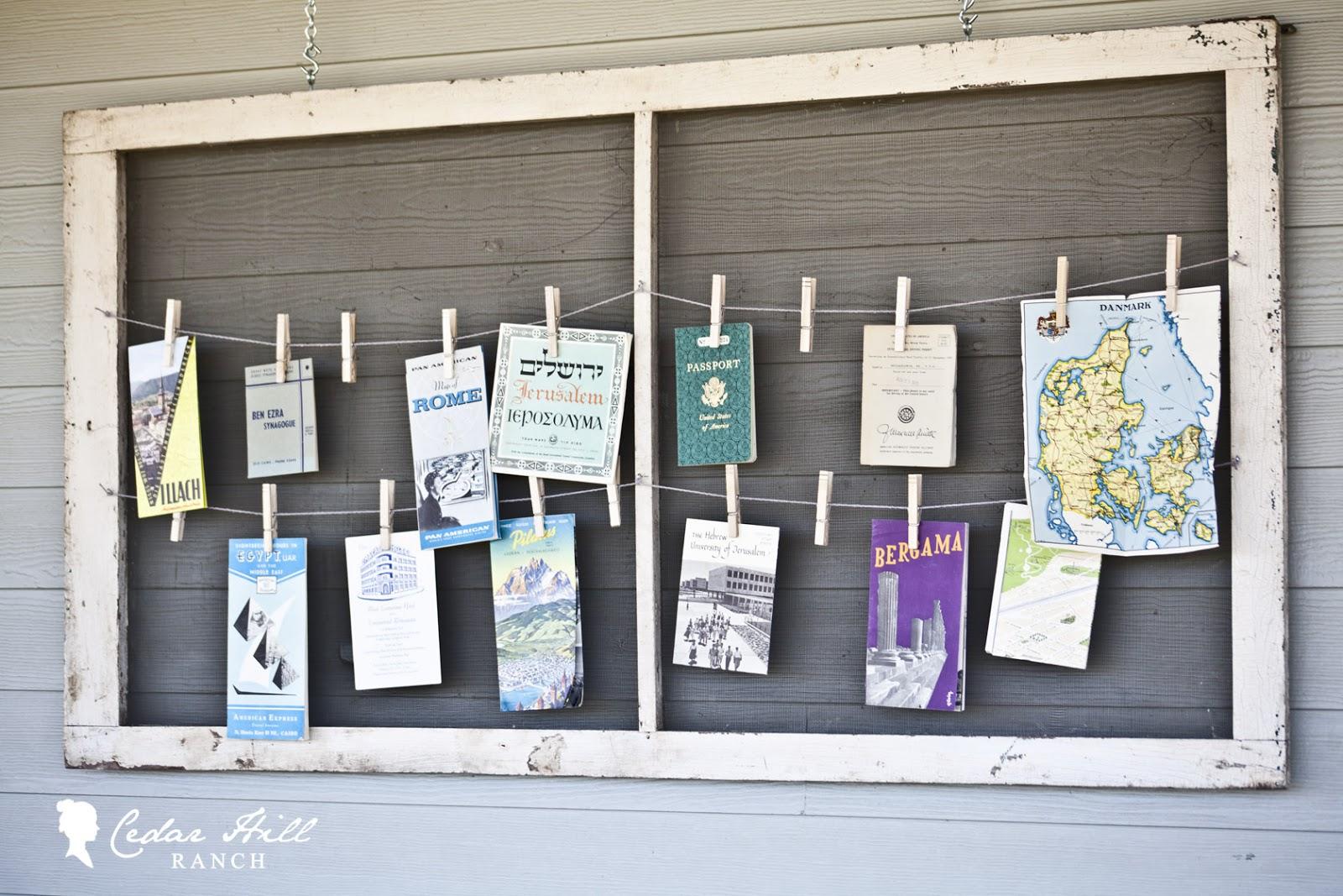 Window Screen Bulletin Board - Cedar Hill Farmhouse