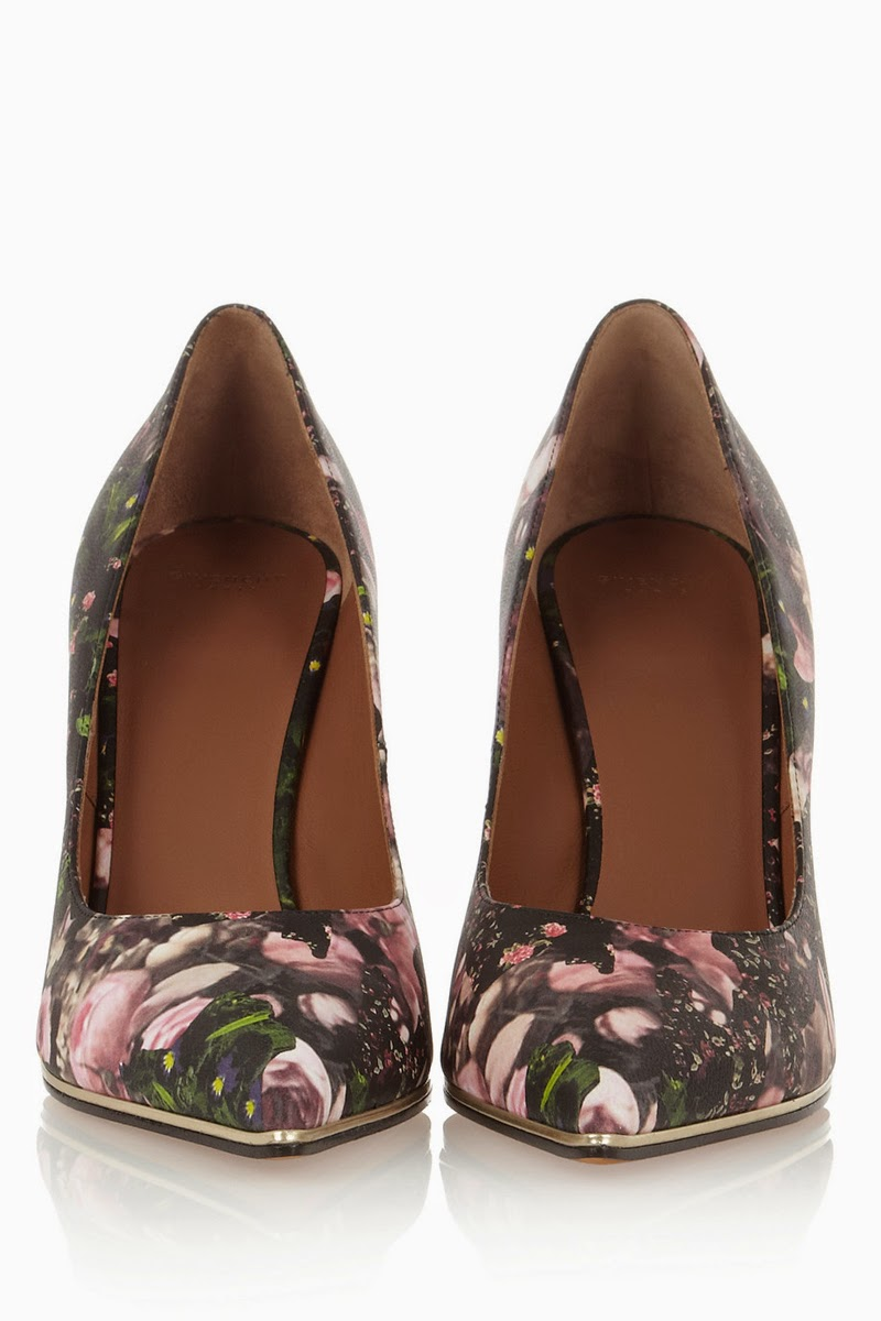 Givenchy floral pumps on Styled by Sasha