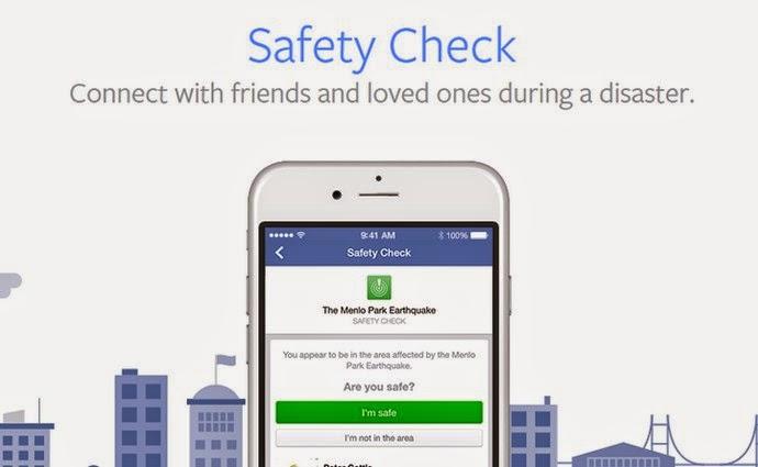 Facebook Luncurkan Safety Check, Fitur Notifikasi Untuk Bencana Alam