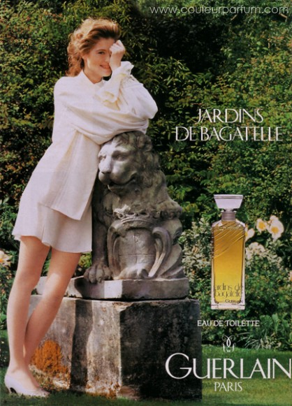 Perfume shrine guerlain jardins de bagatelle 1983 for Bagatelle jardin