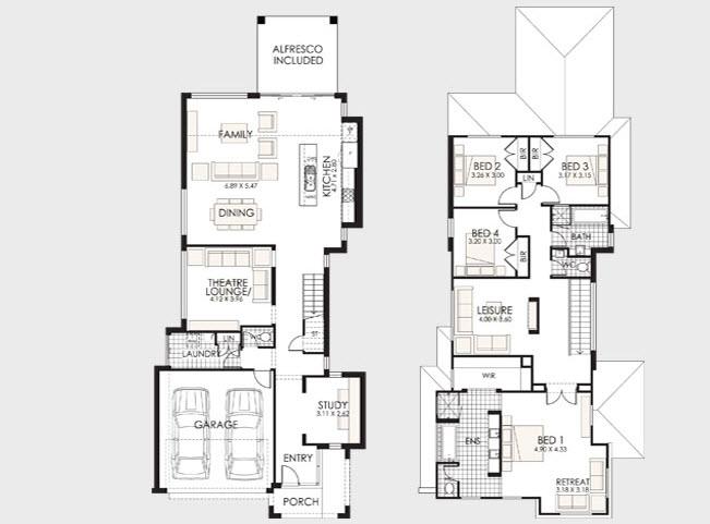 Dise o y planos de casas de dos pisos con ideas para - Planos de casas pareadas ...