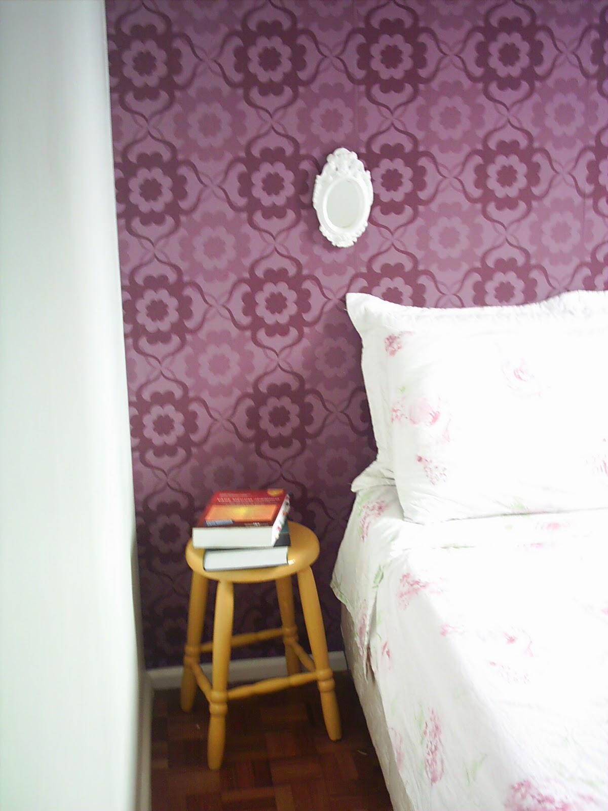 Entre e sinta se em casa papel de parede no quarto - Papel pared leroy ...