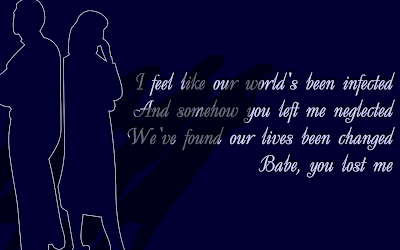 You Lost Me - Christina Aguilera Song Lyric Quote in Text Image