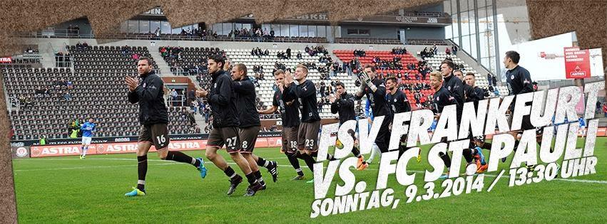 Lembrete para o jogo: FSV Frankfurt : FC St. Pauli