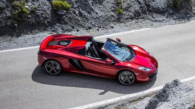 McLaren 12c Spider side up