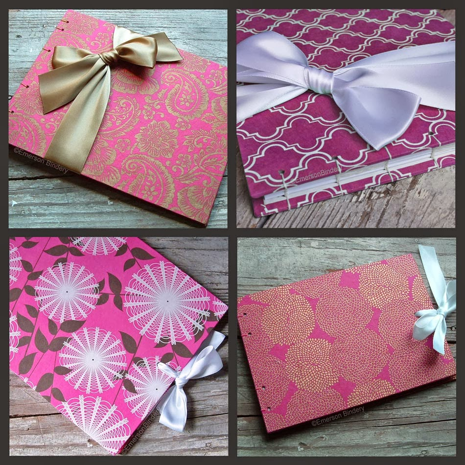 Emerson Bindery: 4 Ways to do a Fuchsia Pink Guest Book