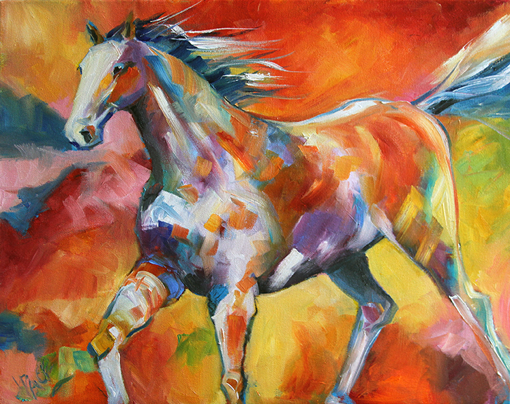 graphics one design 2013 white runner 16 x 20 inches oil on canvas a