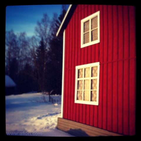 rött hus, lada, red wooden house helgum, sweden, fotograf Maria-Thérèse Sommar, Härnösand
