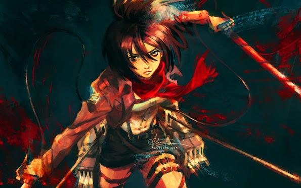 mikasa ackerman anime girl attack on titan shingeki no kyojin hd wallpaper 1440x900