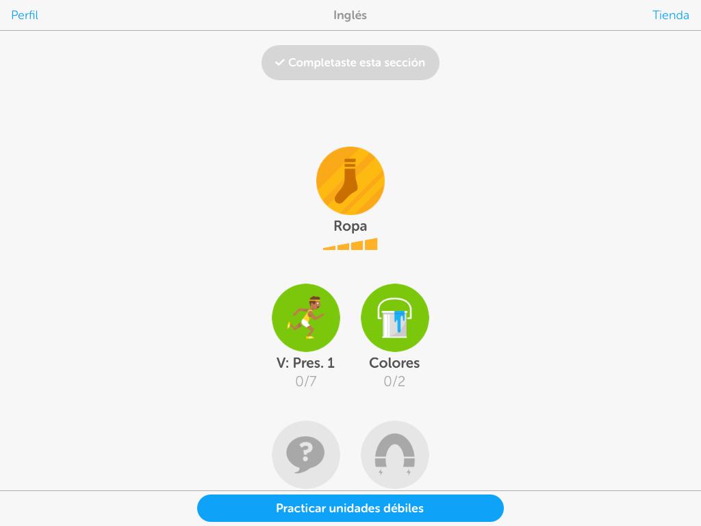Aprendiendo con Duolingo