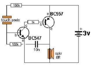 Build Lie Detectors Circuits Project Circuit Diagram
