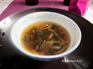 minestra dell'atantico con salsa di soia