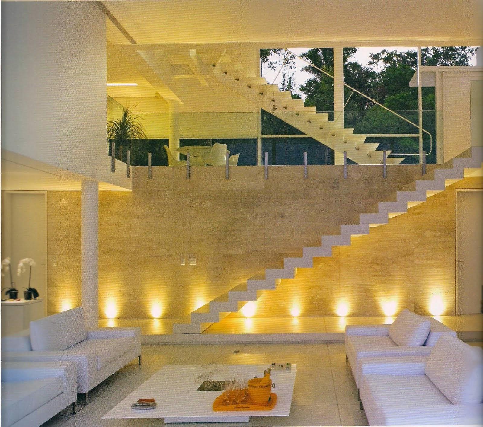 Construindo Minha Casa Clean 30 Salas Decoradas Com Escadas