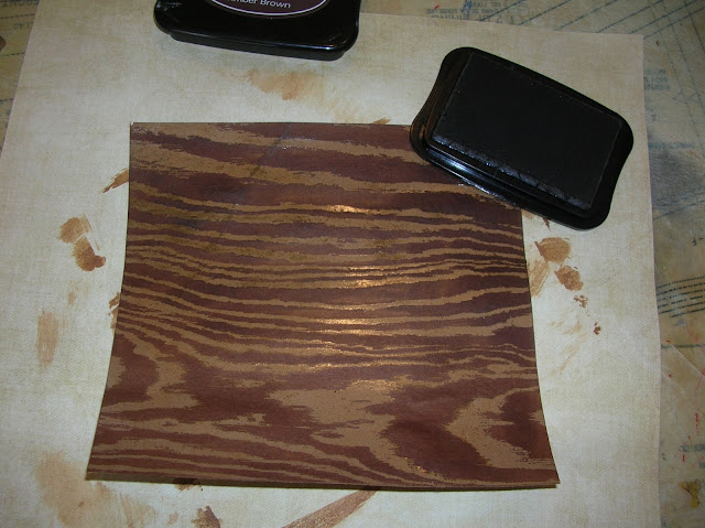 Wood grain kraft paper