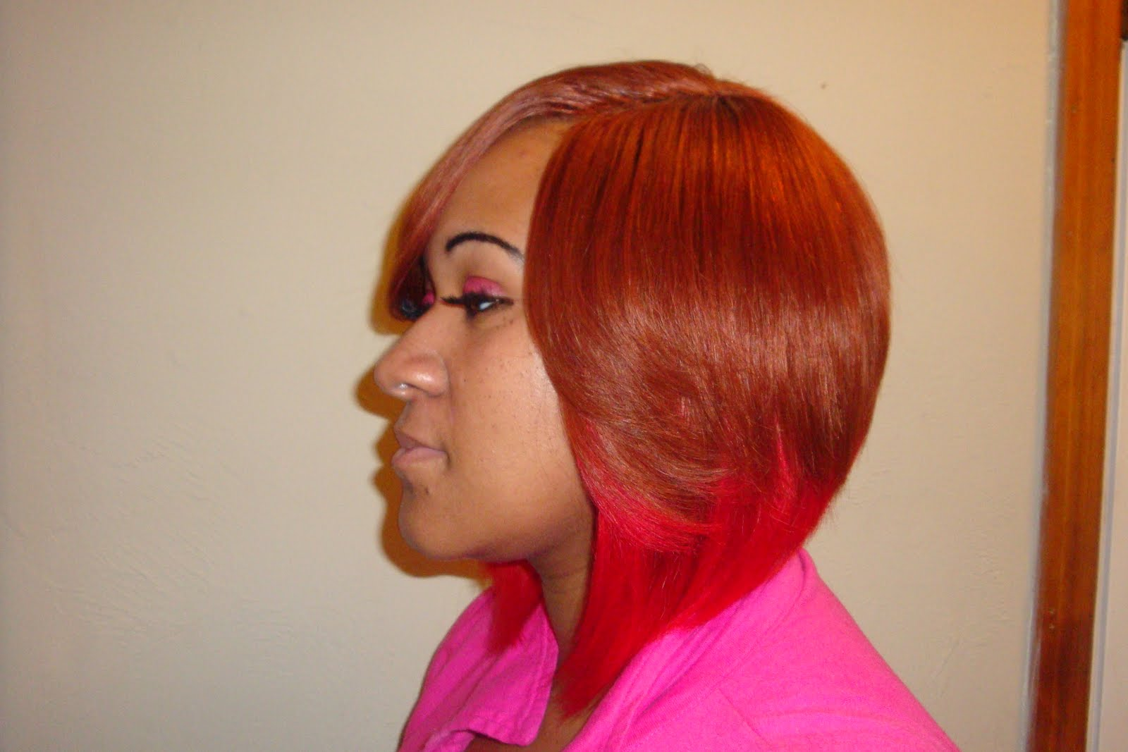 Layered Bob with Invisible Part