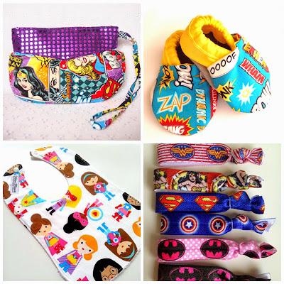 image superhero creations madeit wristlet hair elastics ties bib baby shoes