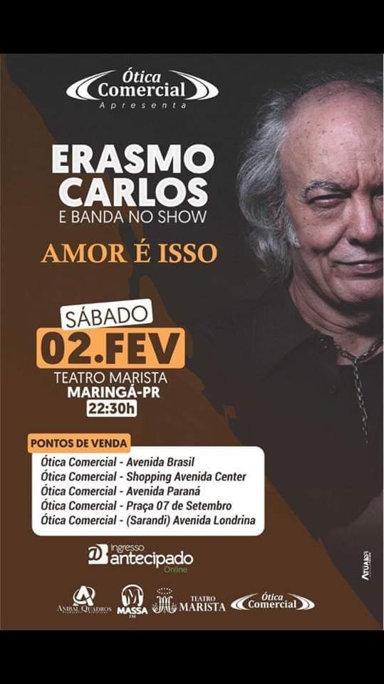 Erasmo Carlos estará em fevereiro em Maringá