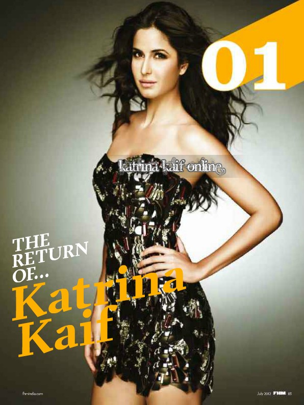 Katrina Kaif in short black dress in FHM magazine - (2) -  Katrina Kaif FHM – July 2012 HQ Scans