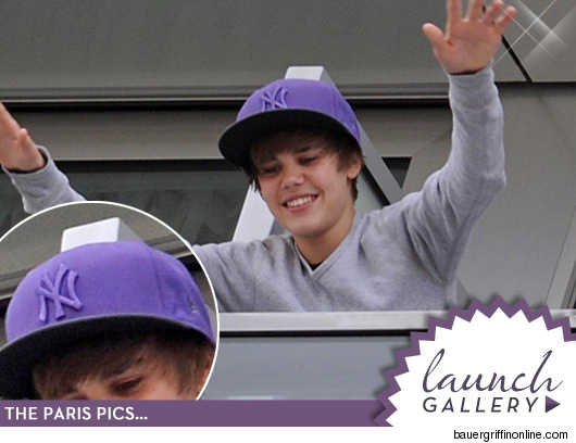justin bieber hat on. because.