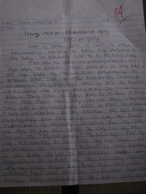 Write my essay tungkol sa sarili