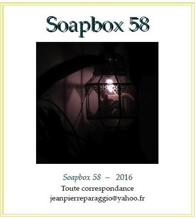 SOAPBOX 58; 57; 56 – FEUILLETS de L'UMBO, ÉTÉ 2016, ART & POÉSIE