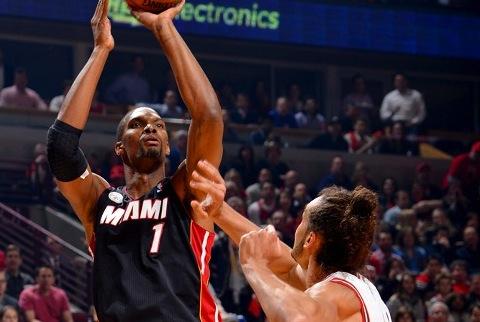 Chris Bosh stepped up in Game 3 to give Miami a 2-1 series lead.