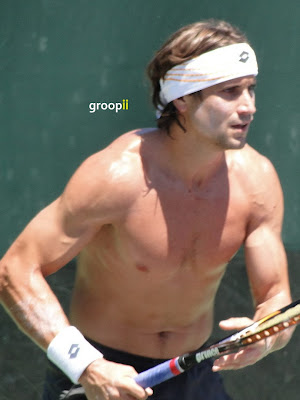 David Ferrer Shirtless at Miami Open 2011