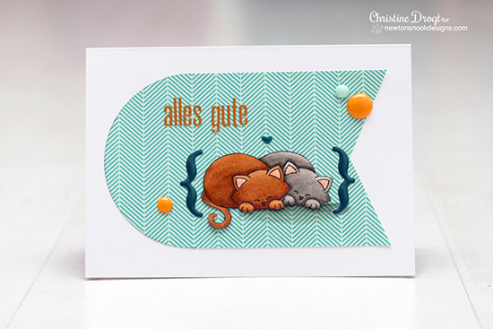 Sweet Kitty card by Christine Drogt using Newton's Antics Stamp set for Newton's Nook Designs